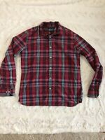 BANANA REPUBLIC Camden Fit Red Blue Plaid Button Down Shirt Men's size Medium