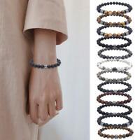Herren Edelstein Strand Armband schwarz magnetische Hämatit Perlen