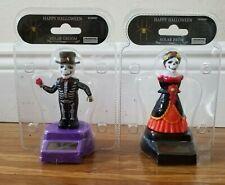 New 2Pc Bride & Groom Dia De Los Muertos Solar Power Dancing Halloween gift toys