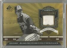 2006 SP Legendary Cuts Baseball Gaylord Perry Chronology Game Used Jersey Card