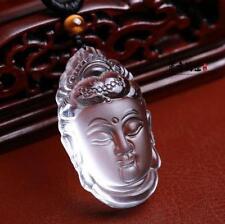 Tibetan Buddhism natural white Crystal Hand carved white buddha charm pendant