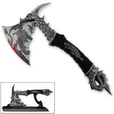 "Brand New 14.5"" Fantasy Dragon Axe Knife Sword Dagger w/ Stand Home Decor Xmas"