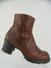 TIMBERLAND Alyse Brown Sz 6.5 M Women Zip-Up Ankle Leather Boots