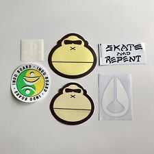 Lot Of 6 Decal Stickers Surf Skate Sun Bum Nixon Indo Board PlayStation