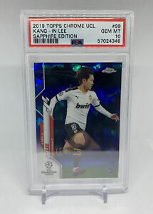 2019 Topps Chrome UCL Lang-In Lee #99 Sapphire Edition RC PSA 10