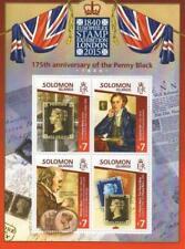 PENNY BLACK 175th ANNIVERSARY EUROPHILEX MNH STAMP SHEETLET - 2015