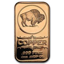 1 oz Copper Bar - Buffalo Nickel - SKU #94942