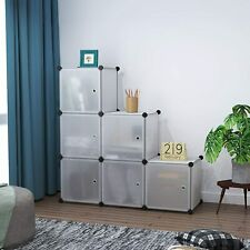 6 Cubes Plastic Closet Cabinet, Storage Shelves with Doors modular organizer