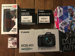 Canon EOS 80D 24.2 MP DSLR Camera - Black (with EF-S 18-135mm & EF 50mm f/1.8)