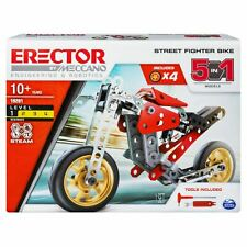 Meccano Erector STREET FIGHTER BIKE 5-in-1 Models S.T.E.A.M. Building Kit 19201