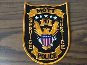 Mott North Dakota Police Department Patch Vintage Defunct