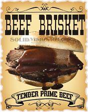 "14"" Beef Brisket Sandwich Concession Trailer Food Truck Sign BBQ Sticker Decal"
