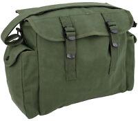 Mens Army Combat Military Haversack Shoulder Canvas Man Travel Bag Surplus Green
