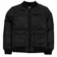 Firetrap Quilted Bomber Jacket Infants Boys - Midweight Coat Top Lightweight Zip