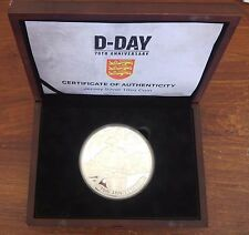 JERSEY -RARE GIANT 10oz SILVER PROOF 50 POUNDS COIN 2014 YEAR 70 anni D-DAY SHIP