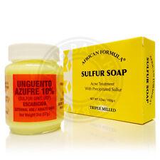 Sulfur Soap Ointment Acne Treatment Combo Kit Tratamiento Pomada Jabon de Azufre
