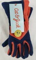 Cat & Jack Kids Gloves Orange and Blue Size 4-7