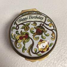 Halycon Days Happy Birthday Enamel Box