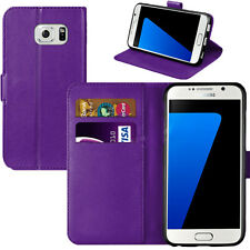FLIP PU LEATHER BOOK WALLET TPU CASE COVER FOR SAMSUNG GALAXY S & J SERIES