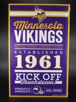 Minnesota Vikings Holzschild 43 cm NFL Football,Established Wood Sign