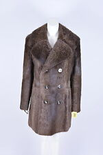 Véritable homme en fourrure de ragondin castor mensfur taille small-medium furjacket furcoat