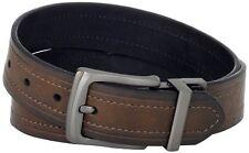 NEW Mens  40MM Reversible Belt With Gunmetal Buckle Brown Black 34