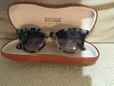 Massada Acetate Eyewear Sunglass Dr Strange Love cream tortoise shell