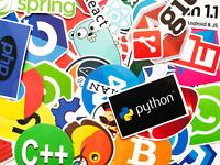 20 Random Programmer Internet Coder Software Logo Stickers - Fast US Shipping