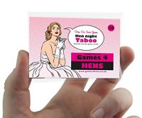 TABOO GUESS THE WORD HEN PARTY GAME Classy Hen Do Game Charades Guessing Active