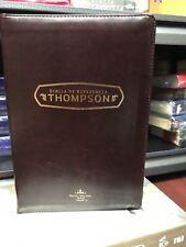 Bíblia De Estudio Referencia ThomPson Con Cierre Cafe Reina Valera 1960 PIEL IMI