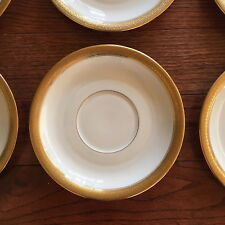 "Rosenthal Ivory Bavaria Gold Trim 7"" Saucer Plate,  Lot of 6 China"