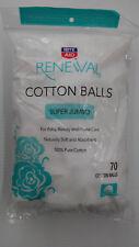 Rite Aid Renewal Super Jumbo 100% Cotton Balls - 70 Count (Pack Of 3)