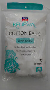 Renewal Super Jumbo 100% Cotton Balls - 70 Count