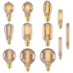 Antique Industrial Edison Flexible LED Bulb Spiral Filament Light Lamp E27 40W
