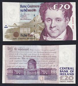 Irlanda 20 pounds 1993 (Errore di Taglio) SPL+/XF+  B-10