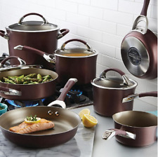 Circulon Symmetry Nonstick Hard-Anodized 11-Piece Cookware in Merlot
