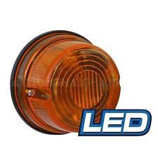 LED Round Trailer Lamp 12v 5 Amber LED Lights 50000 Hrs 79mm x 42mm Prewired