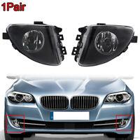 Pair Front Fog Lights Lamp W/Blubs For 11-13 BMW 5 Series F10 F11 528i 530i 535i