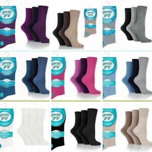 12 Pair Men Women Gentle Grip Soft Top Cotton Medical Diabetic Non Elastic Socks