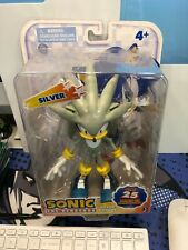 Sonic the Hedgehog Silver Jazwares Super Posers Sealed Free Shipping