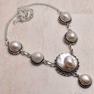 Biwa Pearl Pearl Ethnic Handmade Necklace Jewelry 32 Gms AN 65406
