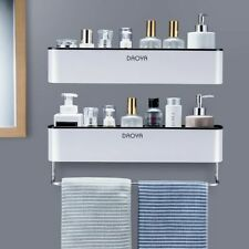 Bathroom Shelf Rack Shower Caddy Organizer Wall Mount Shampoo Towel No Drilling