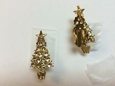 Clip On Christmas Tree earrings crafts You add rhinestones Lot of 50 pair