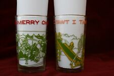 2 1974 Welch's Jelly Glass Jars Tumbler Warner Bros Bugs Bunny Tweety Sylvester