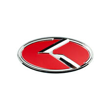 CHROME RED KIA K SMALL EMBLEM BADGE FOR TRUNK OR HOOD