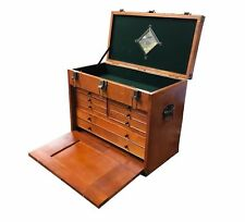 RDGTOOLS WOOD TOOL CHEST 8 DRAWER JEWELLERY BOX CABINET MIRROR LOCK LID