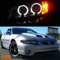 Fits 97-03 Pontiac Grand Prix 1Pc Black Halo Projector Headlights W/Corner Lamp
