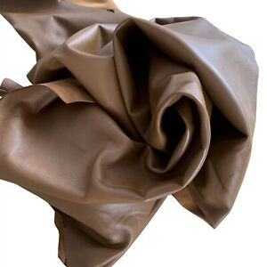 Toffee Brown Genuine Leather Hides Lambskin Material Crafting Supply Fabric F424