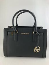 New Authentic Michael Kors Dillon Top Zip EW Satchel Bag Ballet Black Leather