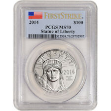 2014 American Platinum Eagle 1 oz $100 - PCGS MS70 First Strike